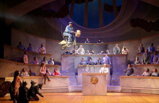 Orphée aux Enfers Opera lausanne 2012 scène dieux